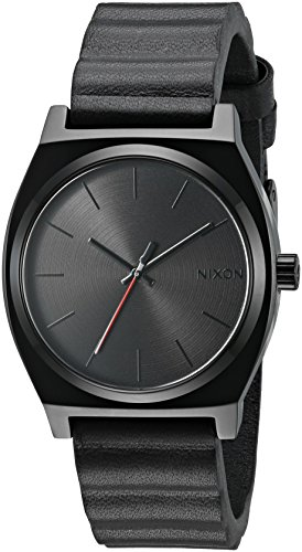 nixon-mens-time-teller-sw-quartz-stainless-steel-and-black-leather-automatic-star-wars-disney-watch-