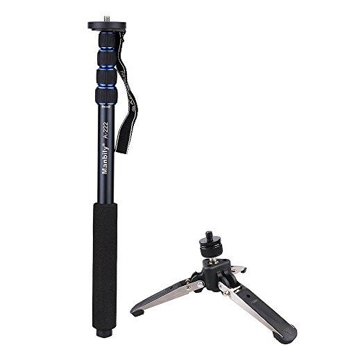 Andoer Teleskop verstellbar portable Aluminium-Legierung Fotografie Einbeinstativ Universalstativ mit Unterstützung Stand Einbeinstativ Base Mini-Stativ für DSLR-Kamera Camcorder
