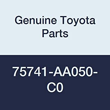 Genuine Toyota Parts 75742-AA050-C0 Driver Side Rear Door Side Molding