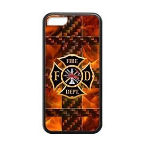 Pop fire department FD logo ,fireman,firefighter ladder Iphone 5C TPU case(Laser Technology)