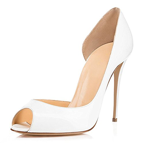 Chaussures Aiguille High Escarpins Pumps Ubeauty Toe Talon Stiletto Peep Sandales Femmes Blanc Sexy Heels Soles Rouge PEcqw84x
