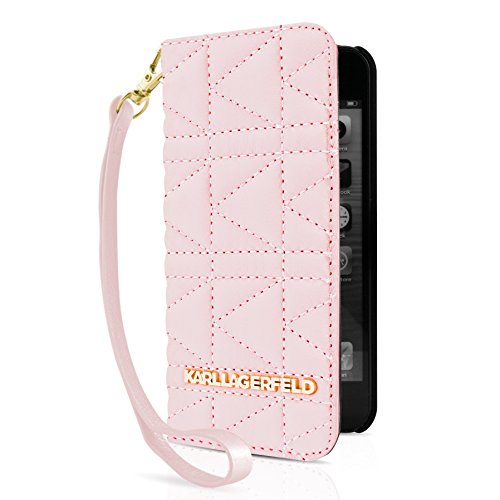 Karl Lagerfeld - Kuilted Collection- Book Tasche/Hülle/Case - Apple iPhone 5, 5S