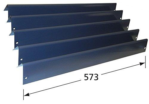 color negro 5 piezas Music City Metals 95365 Juego de /ángulos de calor de acero con porcelana para parrillas de gas de la marca Weber