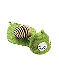 Cute Green Snail Crochet Knitted Photography Props Newborn Outfits Baby Diaper Costume Baby Sleeping Wrap Swaddle Blankets