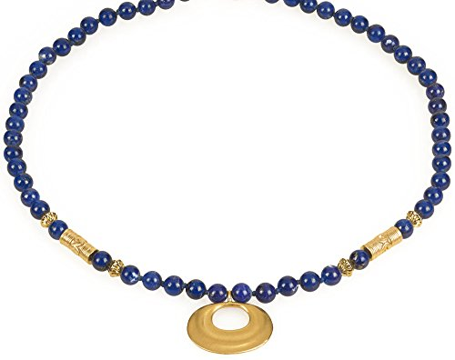 Reproduction of the Pre Columbian Nose Ornament Lapis Necklace, From Our Museum Collection