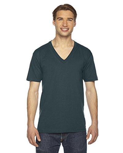 American Apparel 2456W Unisex Fine Jersey Short-Sleeve V-Neck T-Shirt Forest 2XL (Yd Forest Green)