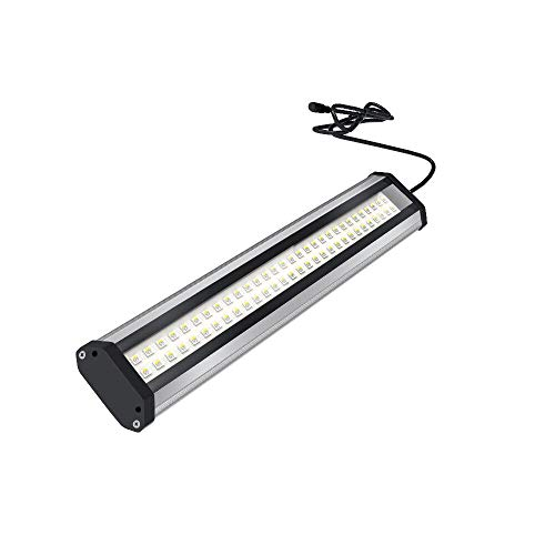 LED Grow Light Bar Dimmable Full Spectrum Indoor Plant Growing Lamp for Greenhouse Hydroponics Vegetable with Remote Controller (15w)