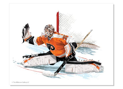 11 x 14 Flyers' Goalie Steve Mason Art Giclee' by David E. Wilkinson
