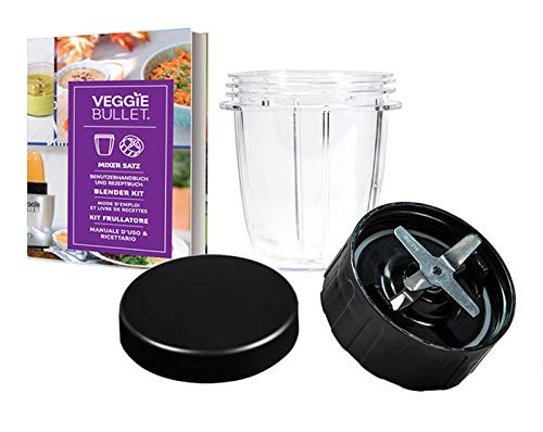 Veggie Bullet 4 pc REPLACEMENT Blender Cup, Blade & Lid