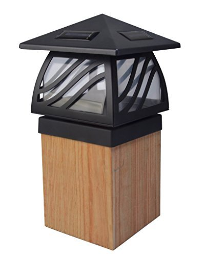 Moonrays 91196 Solar Powered LED Post Cap Light, Black Finish by Moonrays