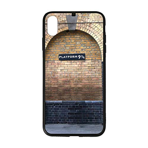 Platform 9 and 3 4 of King's Cross Station iPhone Case XS MAX Shatter-Resistant Anti-Fingerprint Scratch-Proof Mobile Phone Case TPU Phone Case + Tempered Glass Case