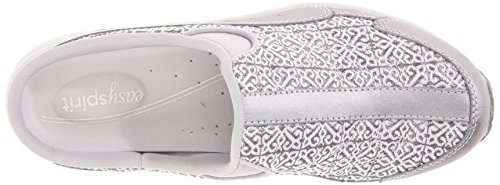 Easy Spirit Womens Traveltime218 Mule, Silver, 5.5 M Us