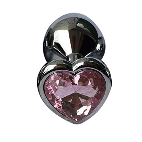 Sex Toy, Hatop Berg Crystal Silver Colour Metal Backyard Stainless Steel Plug Anal Hitch (Purple)