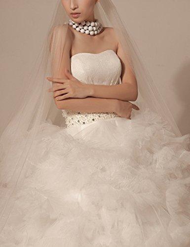 Schnürung Herzausschnitt Hs1008 Strassteinen A-line Perlen Maxi Spitze Lactraum Brautkleider Weiß Hochzeitskleider
