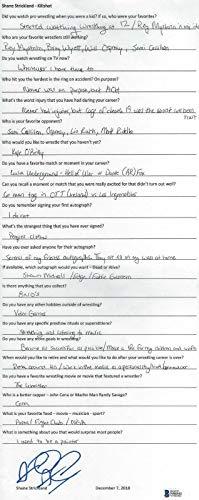 Shane Strickland Signed Hand Written Q&A BAS Beckett COA WWE NXT Autograph MLW - Beckett Authentication (Strickland Signed)