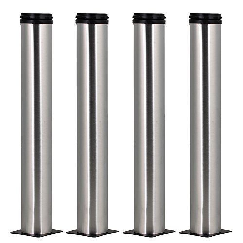 4pcs 350mm Height Adjustable Stainless Steel Furniture Legs Feet Replacement Sofa Kitchen Cabinet Loveseat -