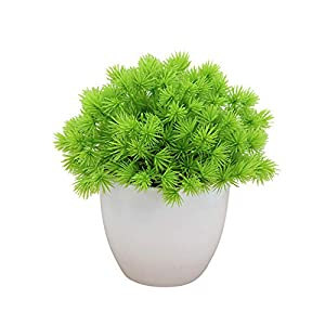 helegeSONG Fake Flowers Silk Plastic Artificial Plant 1Pc Artificial Plant Miniascape Wedding Party Hotel Home Table Bonsai Decor for Home,Office,Wedding,Garden, Pool, Gift, Hotel - Light Green 39