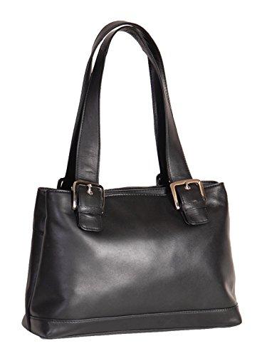 Sac Mode Décontractée à Véritable HLG866 Premium Main Poignées Noir Cuir D'épaule Sac Femmes ng4wqTxBw