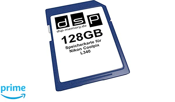 128GB Speicherkarte für Nikon Coolpix L340: Amazon.es: Informática