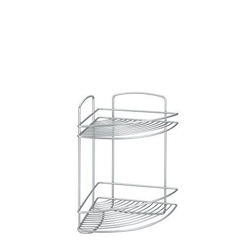 Review Metaltex USA Inc.  Onda Corner Shelf with Safefix, Silver, By Metaltex USA Inc. by Metaltex USA Inc.