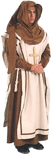 40's Themed Costumes (Alexanders Costumes Men's Renassiance Monk, Brown, One Size)