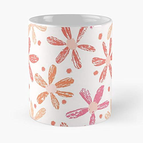 - Coral Vintage Blooming Flower Garden - 11 Oz White -coffee Mug- Unique Birthday Gift-the Best Gift For Holidays.