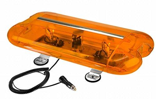 Wolo (3550M-A) Aurora Halogen Emergency Warning Mini Light Bar - Amber Lens