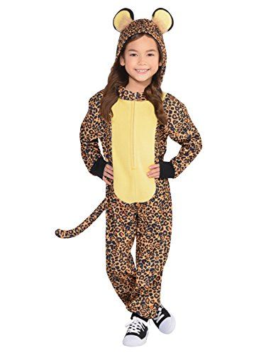 Amscan Cool Costume Wear Leopard Zipster Party (1 Piece), Brown/Black, Small (Leopard Hoodie Child Costumes)