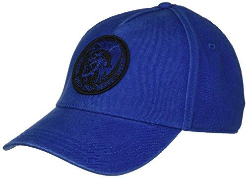 Diesel Men's Mohican Patch Baseball Cap, Mazarine Blue, One (Diesel Men Accessories Hats)