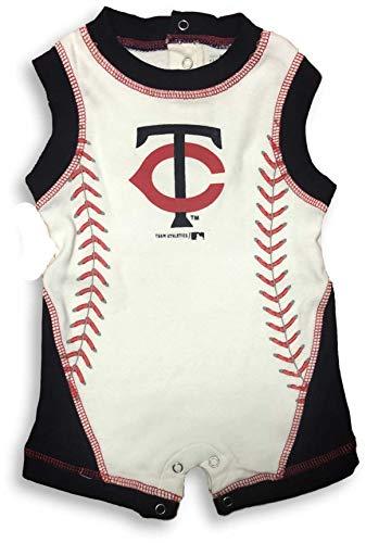 OTS MLB Baby Infant Baseball Logo Baby Bodysuit Romper Many Teams (6/9 Months, Twins)