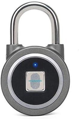GXWLWXMS 防水スマート南京錠、指紋認証ポータブルBluetoothロック、Bluetooth対応バイオメトリック指紋盗難防止キャビネットオフィスジムボックススーツケース南京錠