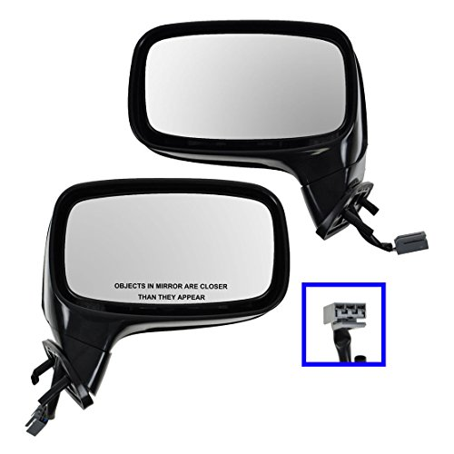 Power Side View Mirror LH & RH Pair Set of 2 for 87-93 Ford Mustang Convertible ()