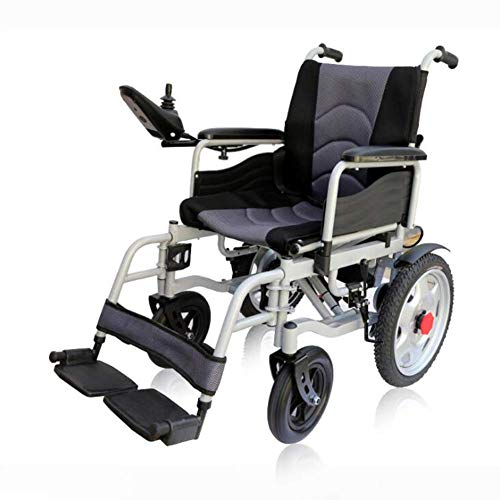 - SISHUINIANHUA Foldable Electric Power Wheelchair Travel Lightweight Motorized Electric Power Wheelchair Scooter Electronic Brake Multi-Functional Wheelchair Durable