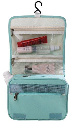 Hanging Toiletry Bag Travel Cosmetic Makeup Kit Organizer for Women Men Large (Simple Green)