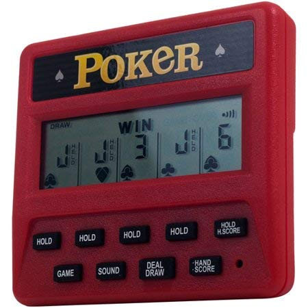 RecZone Electronic Handheld 5-in-1 Poker Game Included Draw, Deuces, Bonus, 2X Bonus and 2x2 Bonus