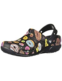 crocs Bistro Graphic Clog Zapatos, Negro/Multi Donuts, 13 US Mujeres/11 US Hombres M US