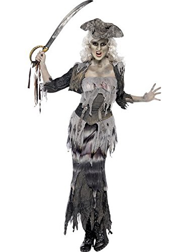 Smiffys Women's Plus-Size Ghost Ship Pirate Costume -