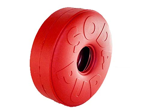 SodaPup - Natural Rubber Life Ring - Chew Toy - Treat Dispenser - Made in USA - for Heavy Chewers - Red - Large