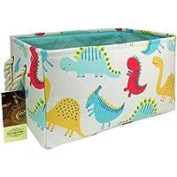 HUNRUNG Rectangle Storage Basket Cute Canvas Organizer...