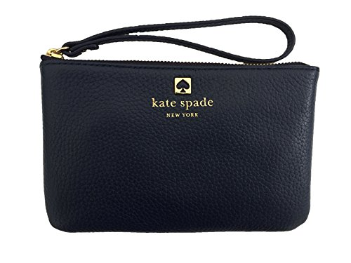 Kate Spade New York Grant Park Bee Pebble Leather Wristlet Wallet (One Size, French Navy (491)) by Kate Spade New York