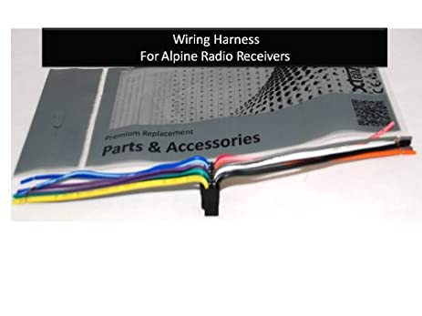 41c5xQoNEfL._SX463_ amazon com alpine car stereo radio wire harness plug full 16 pin alpine cde-100 wiring harness at readyjetset.co