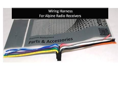 41c5xQoNEfL._SX463_ amazon com alpine car stereo radio wire harness plug full 16 pin alpine cde 100 wiring diagram at bakdesigns.co