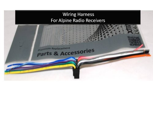 amazon com alpine car stereo radio wire harness plug full 16 pin rh amazon com alpine