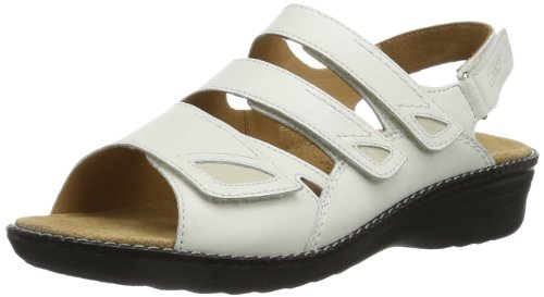 Ganter Hera Weite H 7-205871-02120 - Sandalias de cuero para mujer, color blanco, talla 36 Blanco (Weiß (weiß/creme 0212))