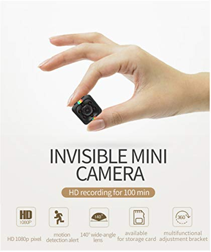- Mini Wireless Spy Hidden Camera, SQ 11 1080P Portable Small HD DVR Recorder with Night Vision and Motion Detective, Perfect Indoor Covert Security Camera for Home,Office,Baby,Car Monitoring.