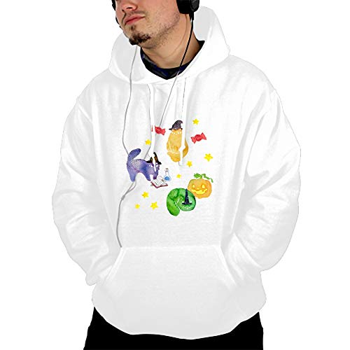 Halloween Cats Vignette Print Athletic Sweaters Hoodie Hooded Sweatshirts