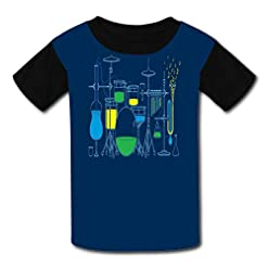 Installation Music Child Short Sleeve Fashion T-Shirt of Boys and Girls