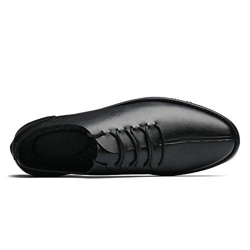 Uomo Scarpe Scarpe Scarpe A Pigro da Oxford Punta Business Morbido Bean da Black Casual Rete Traspiranti Rotonda Fondo qYtw5H