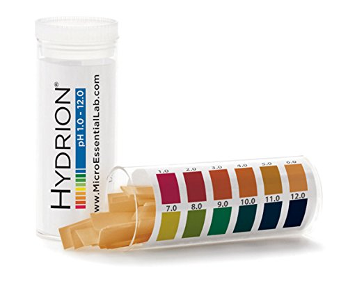 Hydrion pH Strips ph range 1-12 100 strips per vial