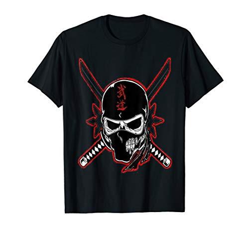 (Ninja Skull Sword T-Shirt Warrior for Ninja Lover)